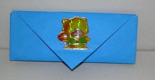 Оригами.  Кошелёк с двумя отделениями.