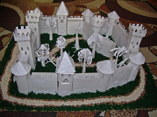 Замок из бумаги своими руками фото